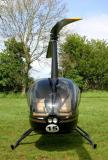 Nose on view of a Robinson R-44