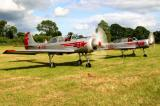 The two Yak-52s ready for taxi
