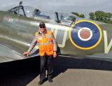 Day 3: Dermot with the Spitfire