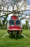 Head on view of Bell 407 N222LB