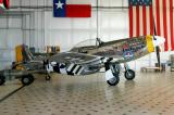 P-51 in the Texas Flying Legends hangar