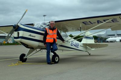Bryan Hogan with his Auster