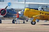 Lone Star marshaller Jeff Hagan directs a T-6