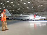 Dermot in the NASA WB-57 hangar