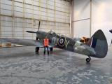 Mark McDermott with the Spitfire
